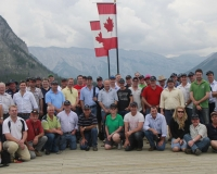 Group Tour Photo Lake Minnewanka 1